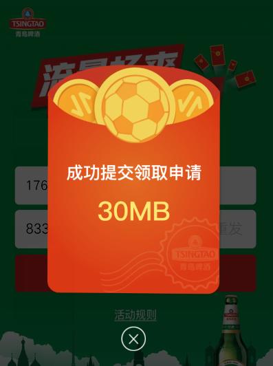 中国联通300M国内流量 亲测秒到